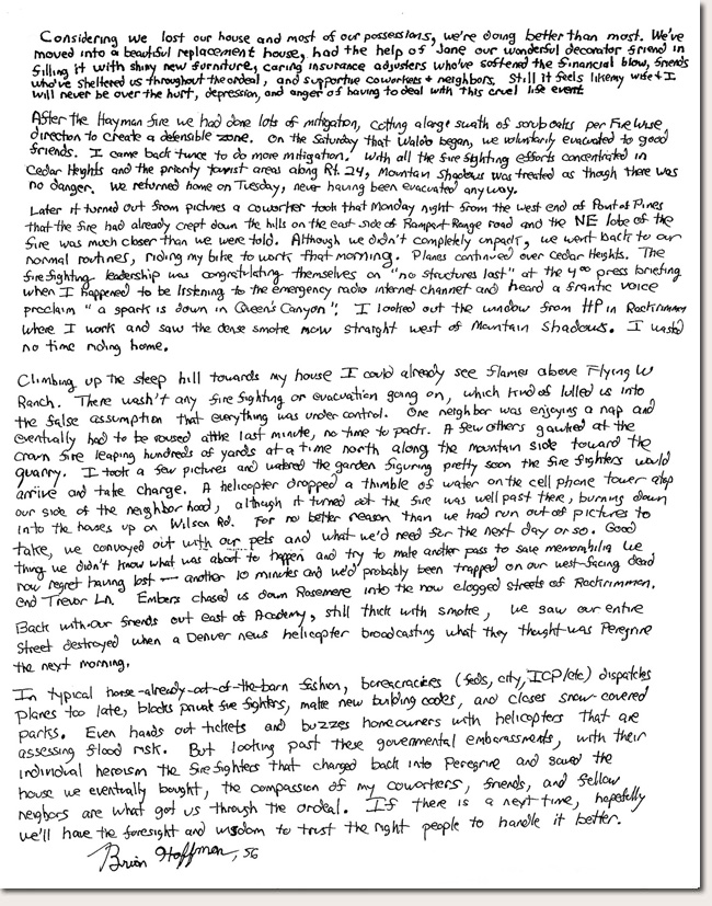 Brian Hoffman Photo Story Letter